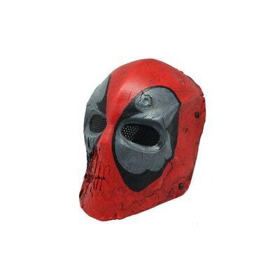 Deadpool Style Resin Mask Airsoft Movie Halloween Cosplay Wade Wilson UK Seller - Movie Style Halloween Masks
