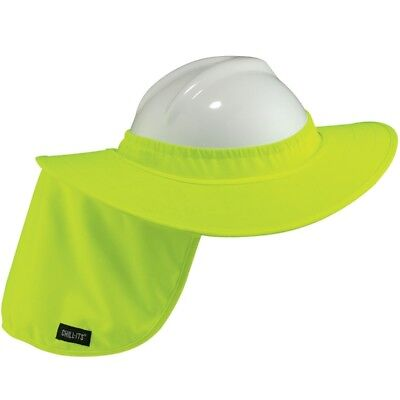 Full Brim Hard Hat Sun Shade Neck Shield Hi-vis Lime Green 6660 Chill-its