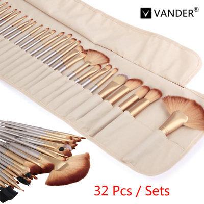 Vander 32Pcs/Set Champagne Gold Beauty Make up Brushes Pro Cosmetic Soft Brush