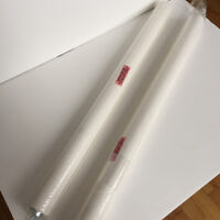 "2 White Blinds / Stores blancs en toile - 27"" large NEUF"