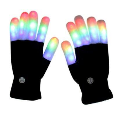 Weihnachten Kinder LED Blinkhandschuhe 7 Licht Modi Fingerlicht Finger Party DE