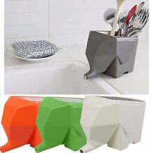 Jumbo Cutlery Drainer Elephant Kitchen Bathroom Dish Holder Rack Clayton Monash Area Preview