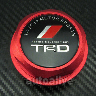 RED TRD Engine Oil Filler Cap Fuel Intake Cover Tank for Toyota Lexus Scion
