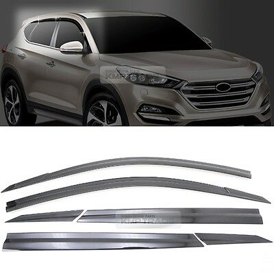 Smoke Window Sun Vent Visor Rain Guards 6P D054 For HYUNDAI 2016-2020 Tucson