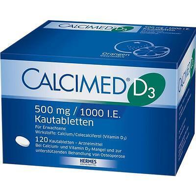 CALCIMED D3 500 mg/1000 I.E. Kautabletten   120 st   PZN7682511 - 1000 Mg Kautabletten