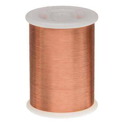 "42 AWG Gauge Enameled Copper Magnet Wire 1.0 lbs 51313' Length 0.0026"" 155C Nat"