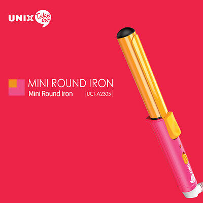 UNIX Take Out Mini Round Iron UCI-A2305 Wave Perm 220V Natural Curl Travel New