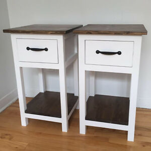 Solid wood night stands