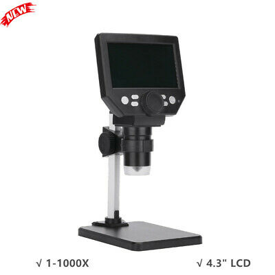 G1000 10mp Electronic Microscope Rechargeable 1-1000x With 4.3 Lcd Display
