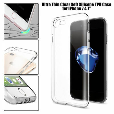 Ultra Thin Clear Crystal Rubber TPU Soft Case Cover for Apple iPhone 8 Plus