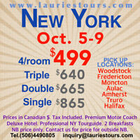 $499 BUS TOUR / TRAVEL TO NEW YORK NY - OTHER TRIPS ( SHOPPING )