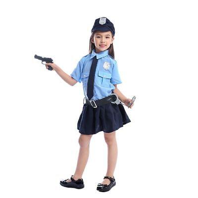 Cute Cop Halloween Costumes (Police Costume Officer Girls Child Cop Dress Girl Halloween Cute Uniform)