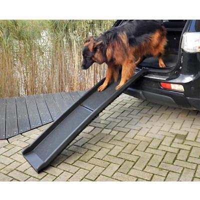 Tragbare Rampe (Auto Hunderampe klappbar, Kunststoff, Anti-Rutsch, 155 x 40 cm, max 90 kg)