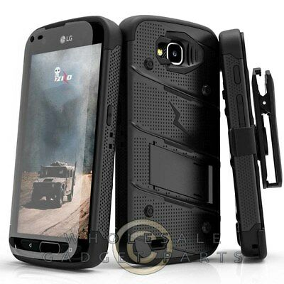 LG X Venture Bolt Case W/Stand - Black/Black Guard Shield
