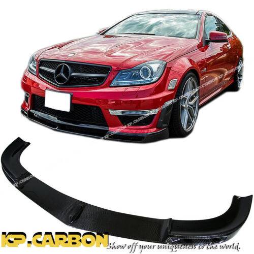Black Series Look Carbon Fiber Front Bumper Lip 12-14 Mercedes-Benz W204 C63AMG