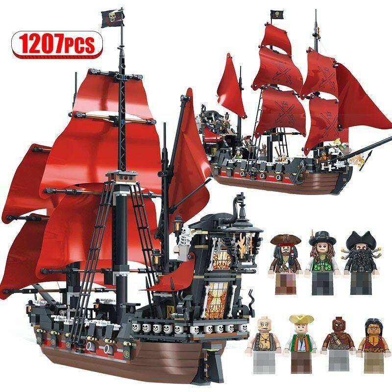 Pearl Ship Queen Anne's Revenge Pirates Caribbean Bricks Pirates Building Blocks Building Toys