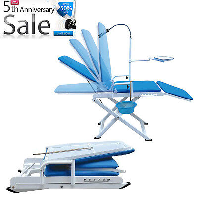 8off Portable Folding Dental Chair Mobile Equipment W Led Cold Light Cuspidor