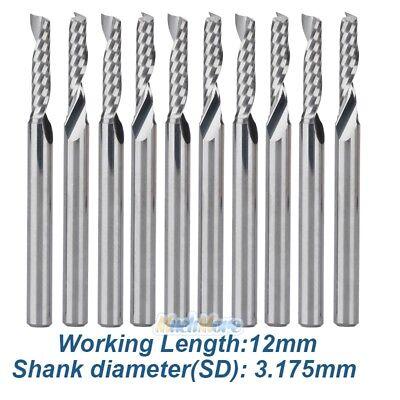 10x 18 Shank Flat Nose End Mill Cnc Router Single Flute Spiral Cutter 12mm Usa