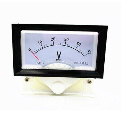 New Dc 0-50v Analog Dial Panel Meter Voltmeter Gauge Voltage Meter 7060
