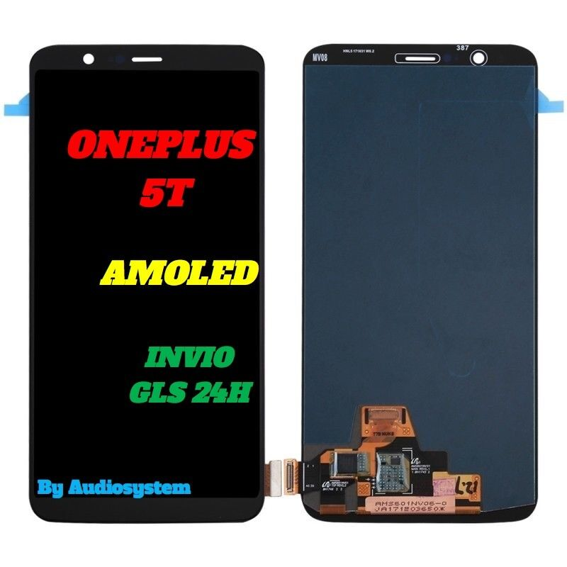 DISPLAY LCD AMOLED+ TOUCH SCREEN per ONEPLUS 5T A5010 NERO VETRO SCHERMO OLED