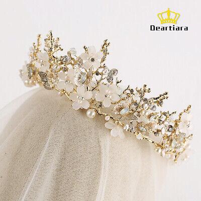 Gold Butterfly Tiara Crown Fairy Princess Headpiece Hair Accessory](Gold Crown Headpiece)