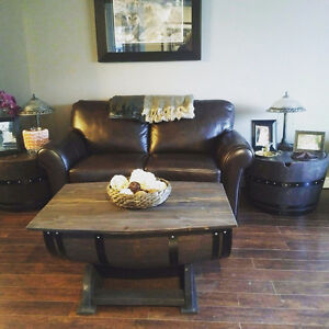 OAK WINE BARREL COFFEE TABLE, END TABLES, WINE RACK Peterborough Peterborough Area image 6