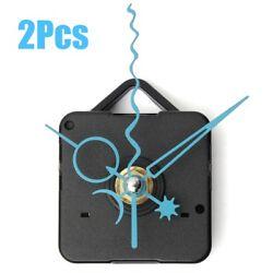 2x DIY Blue Star Moon Hands Wall Quartz Clock Movement Mechanism Repair Kit Gift