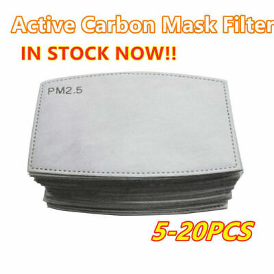 10/20/30 PCS PM2.5 Activated Carbon  Filter Replaceable Breath Insert Anti-dust