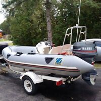 zodiac $3500 without trailer $4000 with trailer