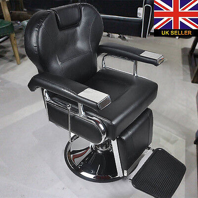 Traditional Barber Chair Salon Hydraulic Reclining Hairdress Threading Shaving