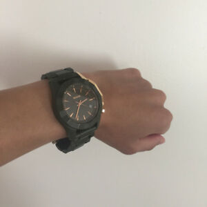 NIXON Watch-The Monarch- Army Green/Rose Gold