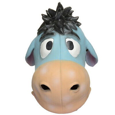 Halloween Funny Cartoon Animal Donkey Latex Mask Cute Fancy Dress Party Costume