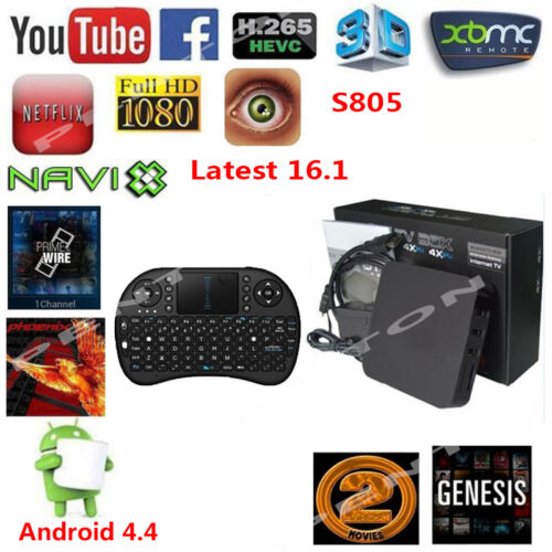 Android4.4 MX Q Smart TV BOX Quad Core16.1 1080P 8G 3D Media Player  +Keyboard