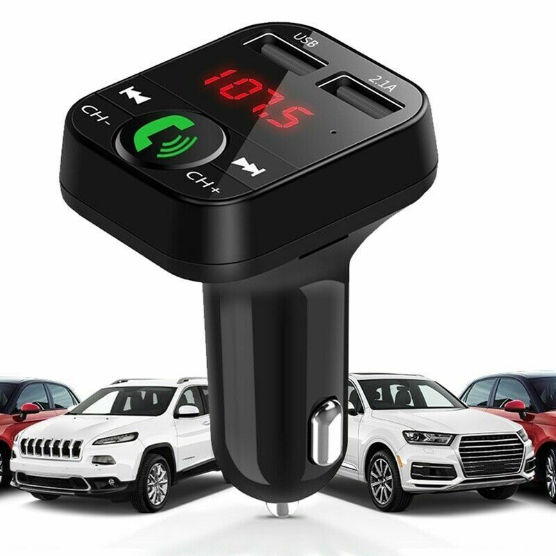 B2 Bluetooth Car USB Charger FM Transmitter Wireless Radio Adapter MP3 Player US