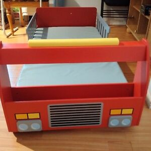 Toddler transition bed with crib mattress