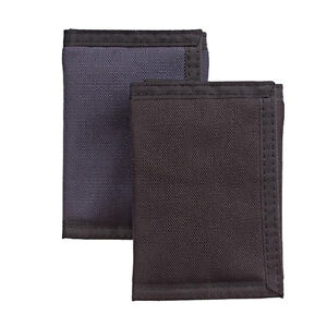 Rolf's Men's Tri-Fold Nylon Wallet with 6 Card Slots, ID Window, Hidden Pockets