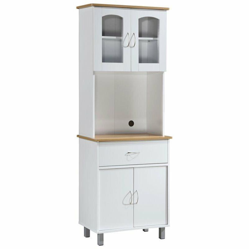 Hodedah Kitchen Cabinet in White