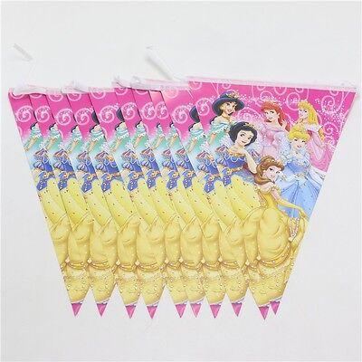Banner Bunting Flag Happy Birthday 2.5 Meter Snow White (Disney Princess Happy Birthday)