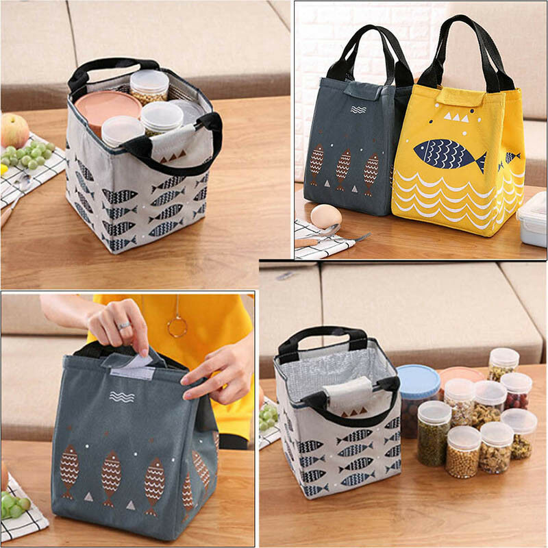02e3f9d66d93 Details about Portable Totoro Flamingo Lunch Bag Waterproof Kids Adult  Insulated Cooler Bento