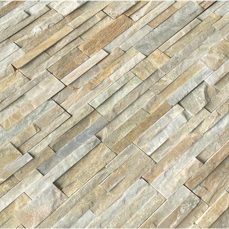 """Golden Honey Splitface Ledger Panel Natural Wall Tile 4""""x4"""" - MSI - SAMPLE"""