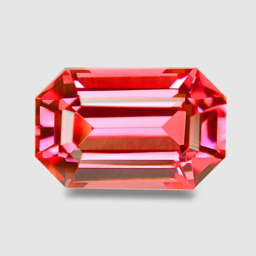 0.93cts FANTASTIC EMERALD CUT NATURAL RICH NEON PINK SPINEL VIDEO IN DESCRIPTION