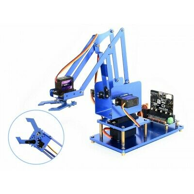 4-dof Metal Robot Arm Kit For Bbc Microbit Bluetooth Remote Control