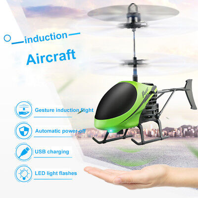 Mini Hand Induction Helicopter Radio Remote Control Flying Aircraft Flashing Toy ()