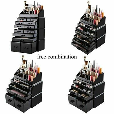 Acrylic Cosmetic Organizer Drawers Makeup Case Holder Jewelry Storage Boxes US