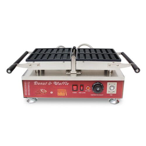 Nonstick Electric 2pcs Square Belgian Waffle Baker Maker Iron Machine