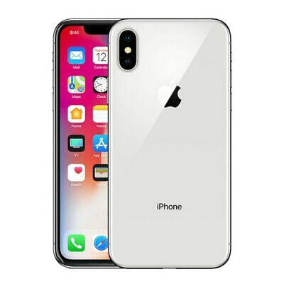 Apple iPhone X - 64GB - Silver  A1865 GSM & CDMA UNLOCKED ~MRF~ VERY GOOD!