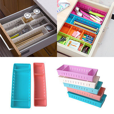 Adjustable Drawer Organizer (Adjustable New Drawer Organizer Home Kitchen Board Divider Makeup Storage Box )