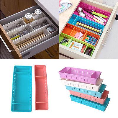 Adjustable New Drawer Organizer Home Kitchen Board Divider Makeup Storage Box