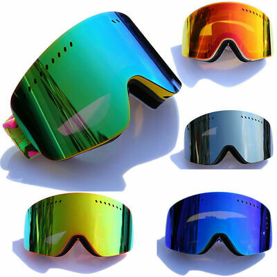 Ski Goggles Lens UV Anti-fog Spherical Ski Glasses Skiing Men Women Snow (Womens Ski Glasses)