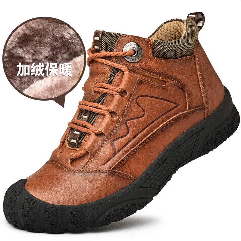 Leather Waterproof Outdoor Men Climbing Hiking Shoes Winter